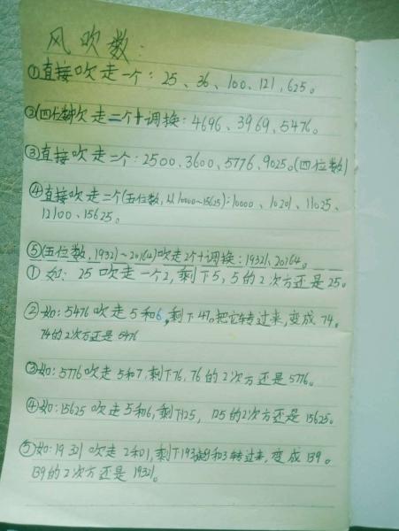 """8岁儿子从雷劈数得到启发,发现了一些很有意思的数字,他命名为""""风吹数"""""""""""
